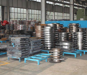 One corner of workshop for bridge bearing manufacture